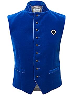 GaudiHerz Trachtenweste in royal-blau - Das Gilet ist eine Designer-Tracht und der Samt-Stoff ist in Top-Qualität...