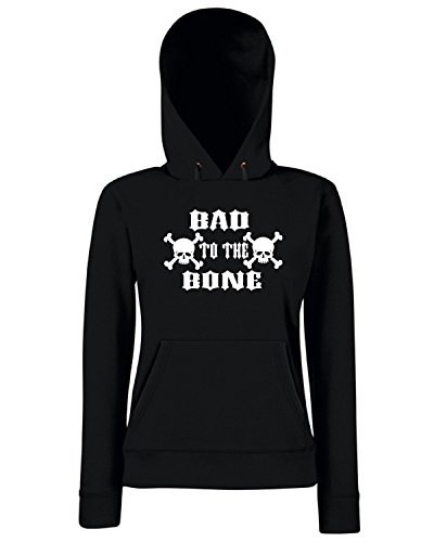 T-Shirtshock - Sweats a capuche Femme FUN0680 bad to the bone vinyl car decal 28262 Noir