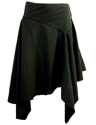 Guru-Shop Zipfelrock, Damen, Schwarz, Baumwolle, Size:S (36), Kurze Röcke Alternative Bekleidung