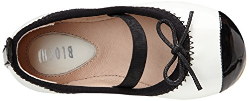 Bloch Toddler Luxury, Ballerines fille Blanc (White/black)