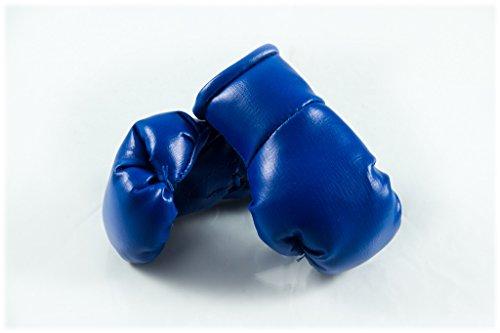 Mini Boxhandschuhe BLAU, 1 Paar (2 Stück) Miniboxhandschuhe z. B. für Auto-Innenspiegel
