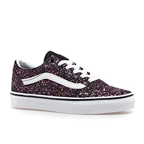 Vans Kids Old Skool Glitter Stars Schuh 2019 Black, 28
