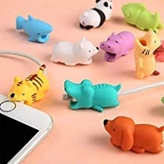 Zantec Cute Animal Bite USB Charger Line Protector Cover for iPhone Ipad Cable Cord Accessories