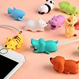 #10: Zantec Cute Animal Bite USB Charger Line Protector Cover for iPhone Ipad Cable Cord Accessories