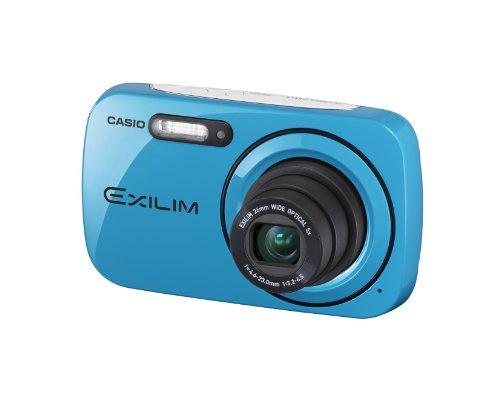 Casio Exilim EX-N1 Digitalkamera (16,1 Megapixel, 6,9 cm (2,7 Zoll) Display, 5-fach opt. Zoom, HD-Video) Peppermint Blue