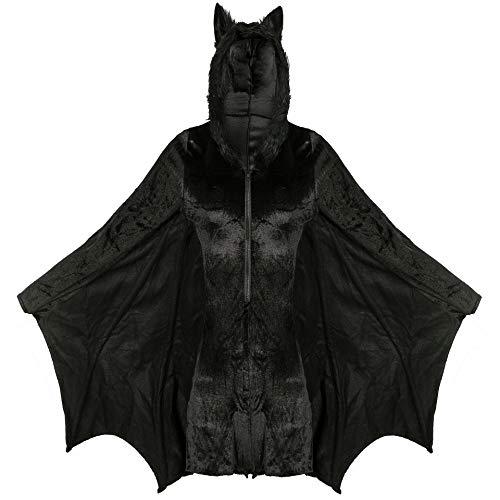 XSH Halloween Fledermaus Kostüm Cosplay Cosplay Sexy Vampirin Batman Kostüm,Schwarz,XXL