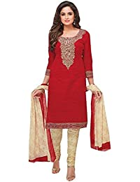 ZAFFAZ Unstitched Cotton Dress Material Free size and delivery SD2116