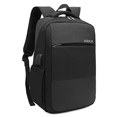 """XQXA Sac à Dos Ordinateur Portable Homme Imperméable Antivol avec USB Charging Port Sac a Dos PC Portable 15,6"""" Sac à Dos de Voyage d'affaires Loisirs Collège -Noir"""