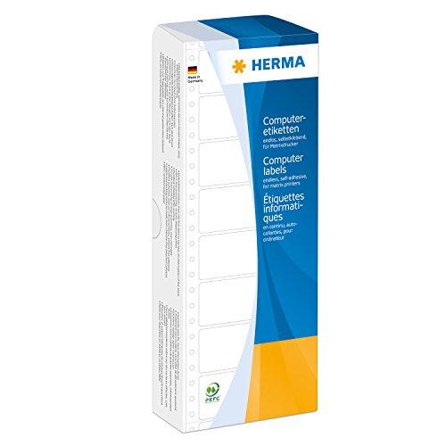 HERMA 8166 Blanco Etiqueta para impresora autoadhesiva etiqueta de impresora - Etiquetas de impresora (Blanco, Etiqueta para impresora autoadhesiva, Celulosa, Papel, Matriz de punto, Mate, PEFC)