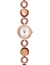 Cavalli Analogue White Dial Women'S And Girl'S Watch-Rose Gold-CW0078