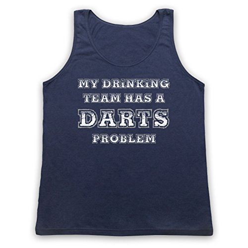 My Drinking Team Has A Darts Problem Funny Darts Slogan Tank-Top Weste Ultramarinblau