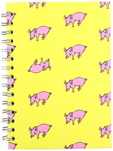 colore: azzurro A5 Quaderno per schizzi Ameleie Pink Pig carta di banano adatta allacquerello