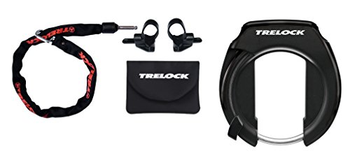 Trelock RS 351 Protect-O-Connect/ZR 355 Set Rahmenschloss, Black, One Size