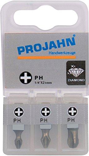 Projahn 1750001-03 1/4 Tige en Embouts Phillips n ° 1 Longueur 25 mm (Lot de 3)