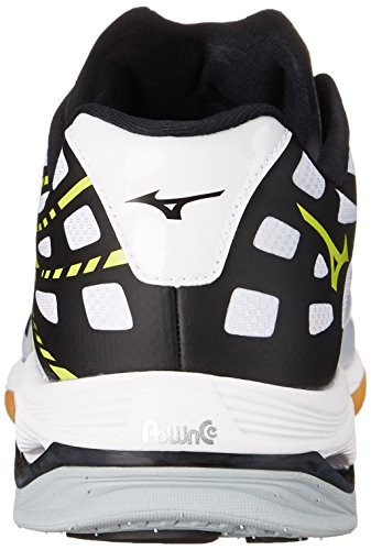 Mizuno Wave Lightning Z, Scarpe da pallavolo uomo multicolore White/Black/Yellow White/Black