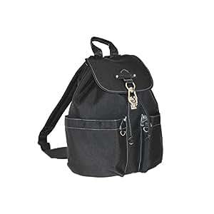 Katana - Sac a dos multi-poches Nylon garni Cuir - Noir