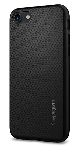 Cover iphone 7, cover iphone 8, spigen cover custodia durevole flex e di facile impugnatura (tpu)[liquid armor] capsule, nero