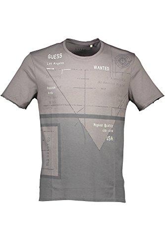 Guess Herren T-Shirt Ss Rn Iconic Reactio grau A947