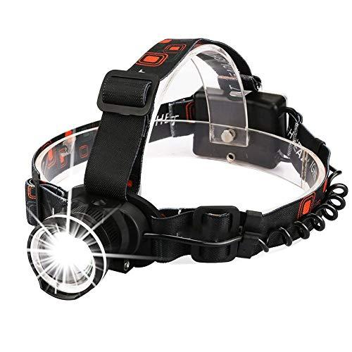 KIOio Fari LED Fisheye, 3 modalità di fari retraibili, Corsa, Campeggio, Pesca, fari da Ciclismo, batterie AA (Colore : Nero)