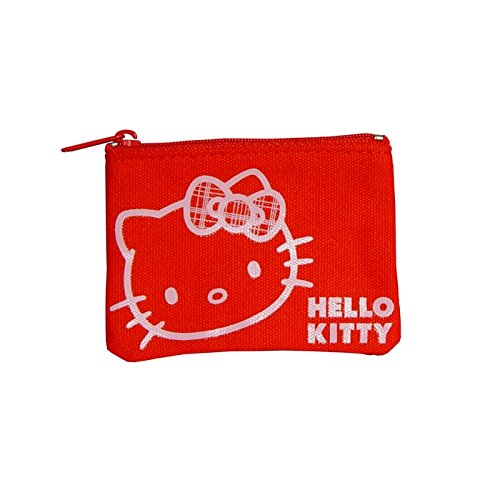 Hello Kitty Geldbörse flach Geldbeutel Check Ribbon rot von Sanrio (Geldbeutel Checks)