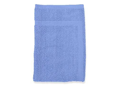 Soleil d'ocre 477105 Douceur Tapis de Bain Coton Bleu 50 x 80 cm