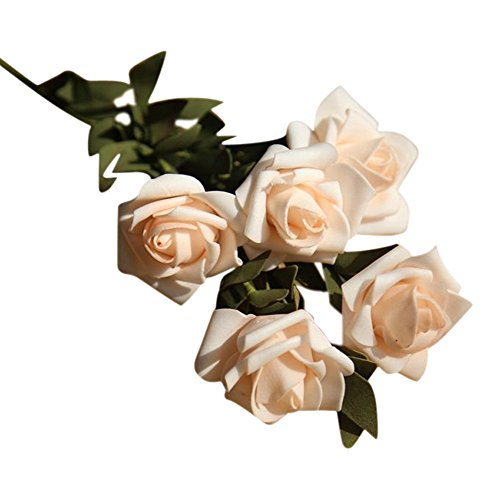 Kostüm Licht Quallen Mit - Lazzboy Künstliche Gefälschte Blumen Rose Floral Hochzeit Bouquet Bridal Hydrangea Decor Pfingstrosen-Blume Für Hochzeitsfest-hauptdekor-gefälschte Blumen-brautstrauß(A)