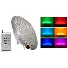 Foco LED PAR56RGB + mando a distancia (iluminación de la piscina)