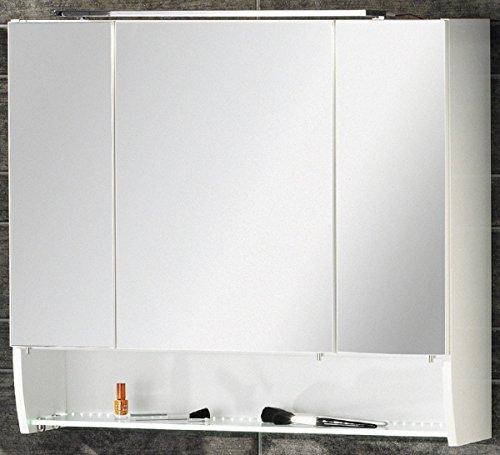 #FACKELMANN Spiegelschrank Sceno Breite 80 cm, mit LED-Beleuchtung  weiß#