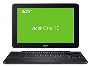 Acer One 10 S1003-11M2 25,65 cm (10,1 Zoll Full-HD IPS Multi-Touch) Convertible Laptop (Intel Atom x5-Z8350, 4GB RAM, 128GB eMMC, Win 10 Home), QWERTZ Tastatur-Layout,  schwarz