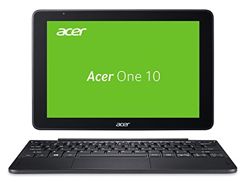 Acer One 10 (S1003-199D) 25,65 cm (10,1 Zoll Multi-Touch Full-HD IPS) 2-in-1 Notebook (RAM, eMMC , Intel HD, SD Kartenleser) Schwarz