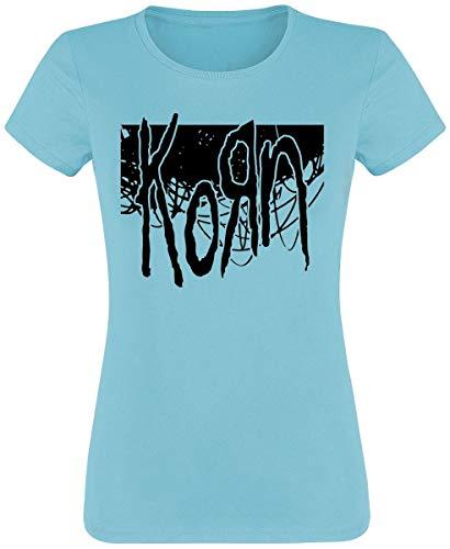 Korn Wire Block T-Shirt türkis S -