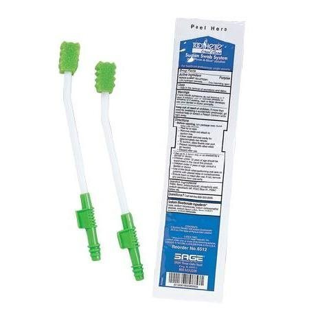 Toothette Plus Suction Swab Single Use Mouth Care System, 2swabs