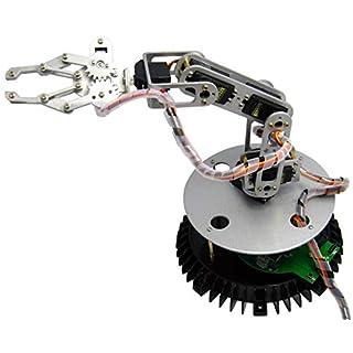 Arexx RA1-PRO Metal Robot Arm Set, Silver, No