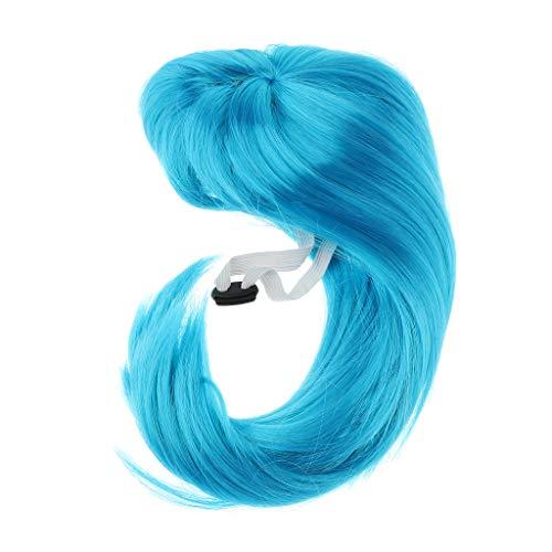 KESOTO Blaue Hund Katze Perücke Pet Haustier Haar Wig als Pet Weihnachten Hut Kostüm Xmas Santa Halloween Kleidung, Festival Fancy Dress up