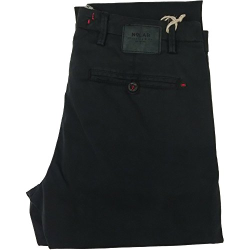 No Lab pantalone uomo 1271 - Chino tasca america, 97% cotone 3% elastan, made in italy, Verde (32)