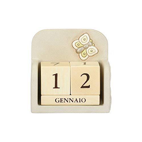 Thun calendario perpetuo prestige da tavolo, in ceramica, 11,6x11,4 cm