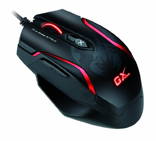 Genius GX-Gaming Mouse for FPS Gaming with DPS Range 800 to 4000 and Built-In Metal Weight (GX-Gaming Maurus X) 41pySMmhlPL