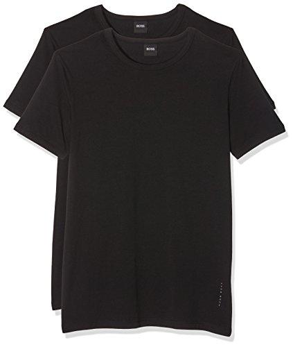 BOSS Herren RN 2P CO/EL T-Shirts, Schwarz (Black 1), Large (2er Pack)