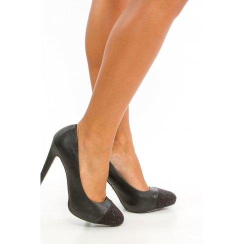 Princesse boutique - Escarpins noire à strass Noir