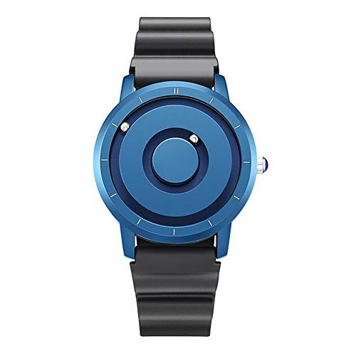 ZUEN New Innovative Blue Gold Magnetic Metall Multifunktionsuhr Herrenmode Sport Quarzuhr Einfache Herrenuhr,C