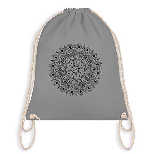 Boheme Look - Boho Mandala Yoga Sketch - Unisize - Hellgrau - WM110 - Turnbeutel & Gym Bag