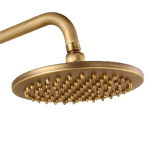 1 stück Bronze Kupfer Runde Duschkopf Regen Regen Badezimmer Duschkopf Sprayer 8 zoll Bad Hardware