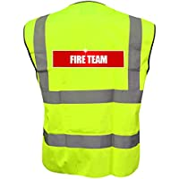 Reflective Fire Team High Visibility Hi Vis Viz Vest Safety Waistcoat