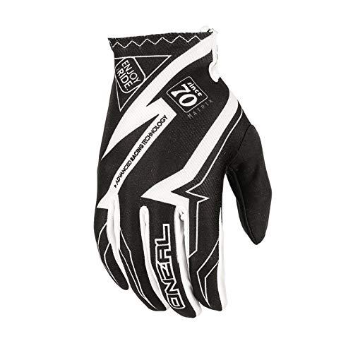 O'Neal Matrix MX Handschuhe RACEWEAR Schwarz Weiß Motocross Enduro Offroad, 0388R-5, Größe M