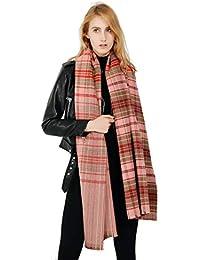 92d7d84e2c0e Femme Fille Tartan carreaux plaid Extra Longue Très Épais Écharpe Wrap  Châles Etole Frange