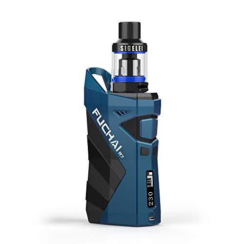 SIGELEI R7 E Zigarette, 230W Enorme Power Vape Box Mod mit einstellbarer WattageTemperatur Kontrolle - keine Nikotin, keine E Flüssigkeit (blau) -