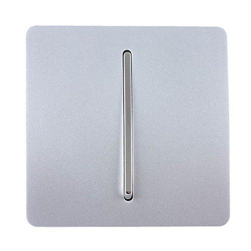 Trendi Switch - Interrupteur Design - 1 bouton - 10 Amp - Argent