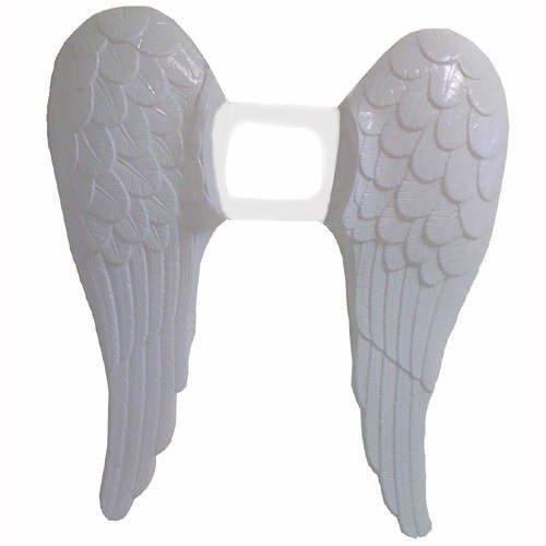 Müller - Engelsflügel aus Plastik, ca. 60 cm, Weiß