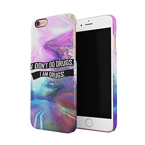 Trippy Road I Don't Do Drugs I Am Drugs Dünne Rückschale aus Hartplastik für iPhone 6 Plus & iPhone 6s Plus Handy Hülle Schutzhülle Slim Fit Case Cover