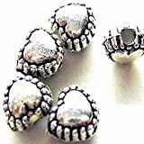 50 pieces Tibetan Silver Heart Alloy Spacer Beads - A0224